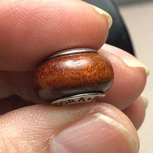 Wood charm bead